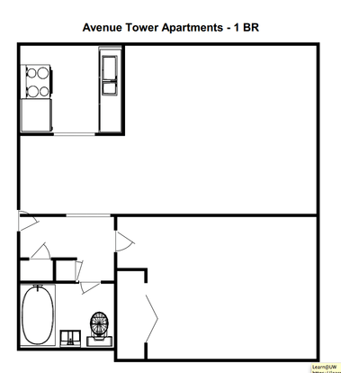 1 Bedroom 1 Bathroom Apartment for rent at Avenue Tower Apartments in Milwaukee, WI