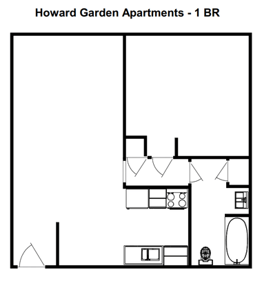 1 Bedroom 1 Bathroom Apartment for rent at Howard Garden Apartments in Greenfield, WI