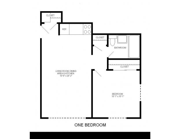1 Bedroom 1 Bathroom Apartment for rent at Astor Place Apartments in Milwaukee, WI