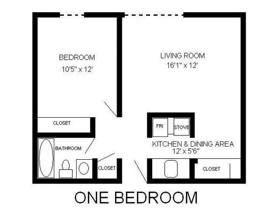 1 Bedroom 1 Bathroom Apartment for rent at Webster Terrace II in Milwaukee, WI