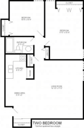 2 Bedrooms 1 Bathroom Apartment for rent at Lake Park Apartments in Milwaukee, WI