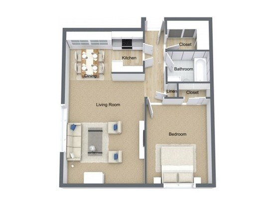 1 Bedroom 1 Bathroom Apartment for rent at Villa Murray Apartments in Milwaukee, WI