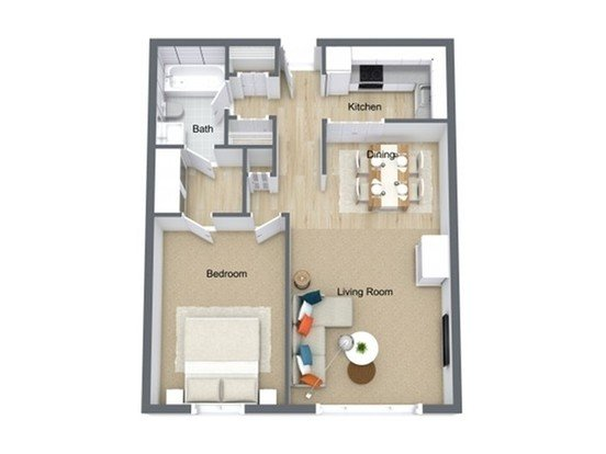 1 Bedroom 1 Bathroom Apartment for rent at River Bend Apartments in Milwaukee, WI