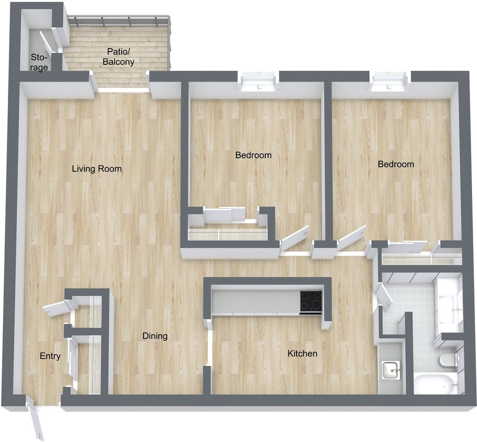2 Bedrooms 1 Bathroom Apartment for rent at Carriage Way Apartments in New Berlin, WI
