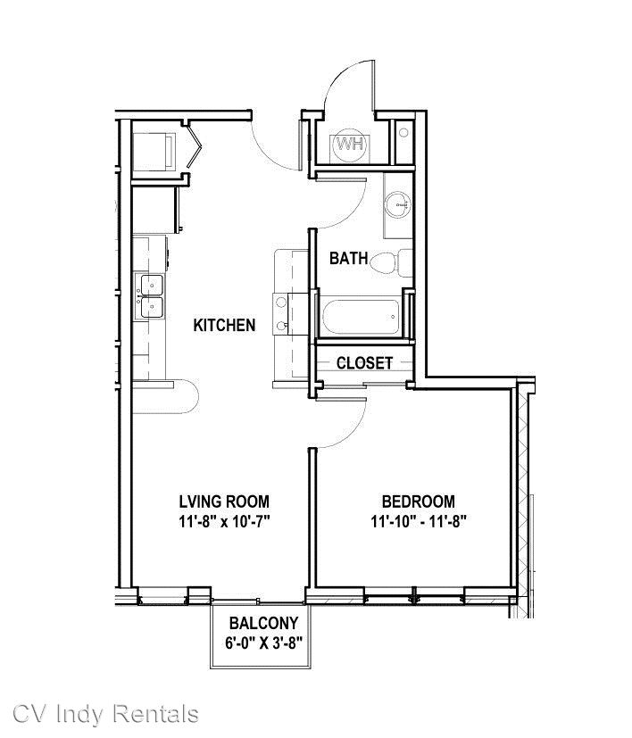 1 Bedroom 1 Bathroom Apartment for rent at 632 Dr. Martin Luther King Jr. St. in Indianapolis, IN