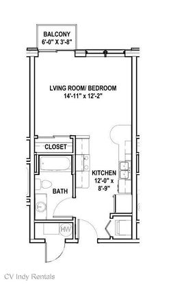 Studio 1 Bathroom Apartment for rent at 632 Dr. Martin Luther King Jr. St. in Indianapolis, IN