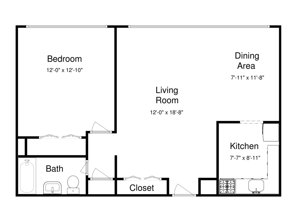 1 Bedroom 1 Bathroom Apartment for rent at Lake Park Tower in Cleveland, OH