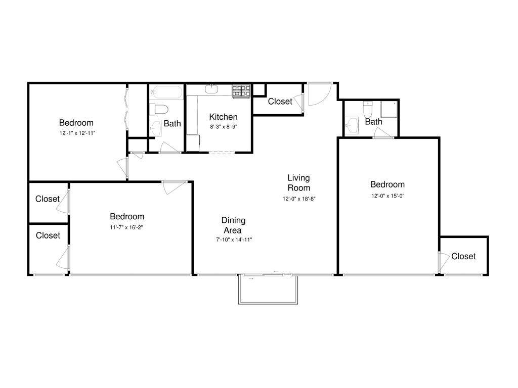 3 Bedrooms 2 Bathrooms Apartment for rent at Lake Park Tower in Cleveland, OH