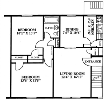 2 Bedrooms 1 Bathroom Apartment for rent at The Village in Columbus, OH