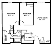 2 Bedrooms 1 Bathroom Apartment for rent at The River and Ravine in Columbus, OH