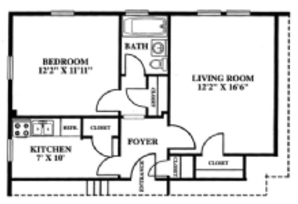 1 Bedroom 1 Bathroom Apartment for rent at The Village in Columbus, OH