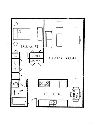 1 Bedroom 1 Bathroom Apartment for rent at Bryant Avenue Apartments - 2550 in Minneapolis, MN