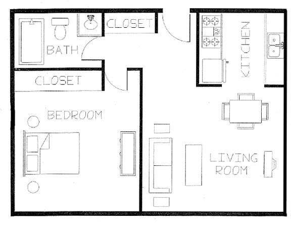 1 Bedroom 1 Bathroom Apartment for rent at Blaisdell Community Apartments in Minneapolis, MN
