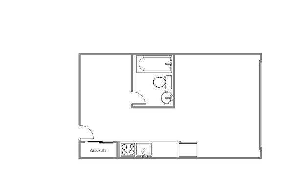 Studio 1 Bathroom Apartment for rent at Franklin Villa in Minneapolis, MN