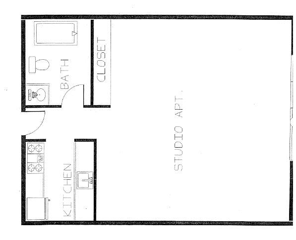 Studio 1 Bathroom Apartment for rent at Blaisdell Community Apartments in Minneapolis, MN