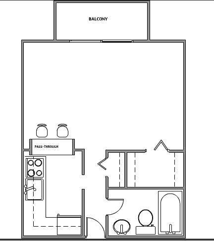 Studio 1 Bathroom Apartment for rent at Uptown Estates in Minneapolis, MN