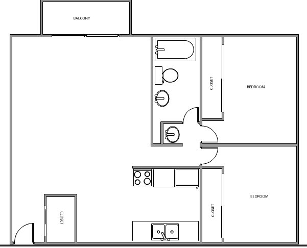 2 Bedrooms 1 Bathroom Apartment for rent at Uptown Estates in Minneapolis, MN