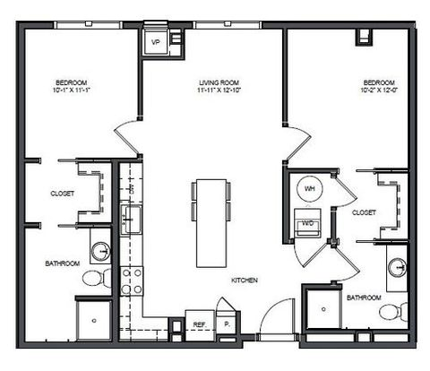 2 Bedrooms 2 Bathrooms Apartment for rent at Skyvue Apartments in Pittsburgh, PA