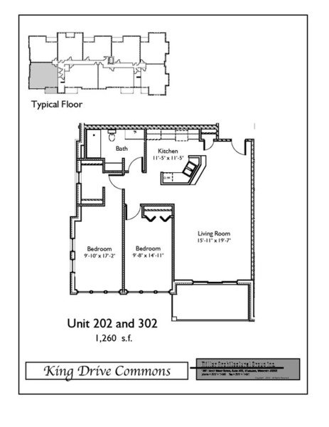 2 Bedrooms 1 Bathroom Apartment for rent at King Drive Commons Phase III in Milwaukee, WI