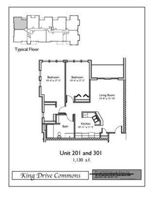 2 Bedrooms 1 Bathroom Apartment for rent at King Drive Commons in Milwaukee, WI
