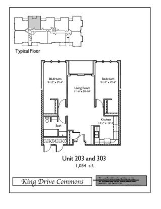 2 Bedrooms 1 Bathroom Apartment for rent at King Drive Commons Phase II in Milwaukee, WI