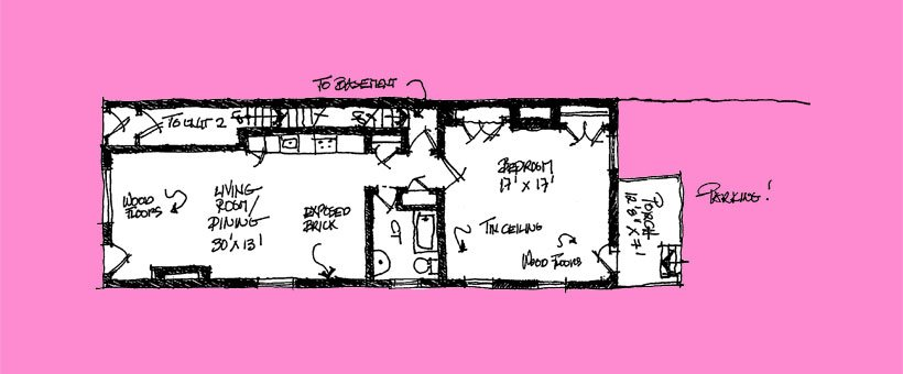 1 Bedroom 1 Bathroom Apartment for rent at Little Pink Houses in Pittsburgh, PA