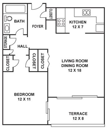 1 Bedroom 1 Bathroom Apartment For Rent At Manor House Apartments In Dallas Tx