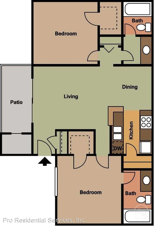 2 Bedrooms 2 Bathrooms Apartment for rent at 11459 N. 28th Dr. Attn: Leasing Office in Phoenix, AZ
