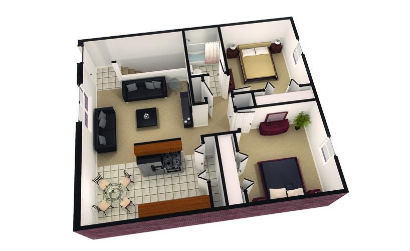 3 Bedrooms 2 Bathrooms Apartment for rent at Bengal Ridge in Columbia, MO