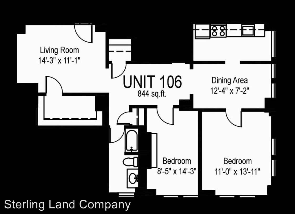 2 Bedrooms 1 Bathroom Apartment for rent at New King Edward Apartments in Pittsburgh, PA