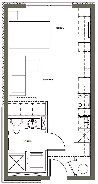 Studio 1 Bathroom Apartment for rent at Gather On Southern in Memphis, TN