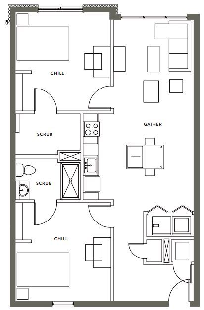 2 Bedrooms 2 Bathrooms Apartment for rent at Gather On Southern in Memphis, TN