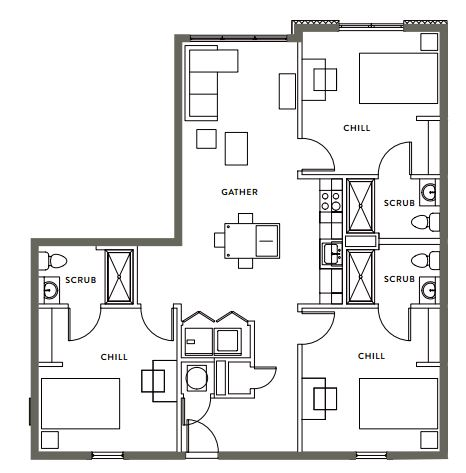 3 Bedrooms 3 Bathrooms Apartment for rent at Gather On Southern in Memphis, TN