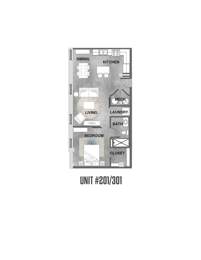 1 Bedroom 1 Bathroom Apartment for rent at Wheelhouse Lofts in Dayton, OH