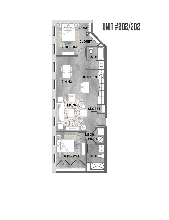 2 Bedrooms 2 Bathrooms Apartment for rent at Wheelhouse Lofts in Dayton, OH
