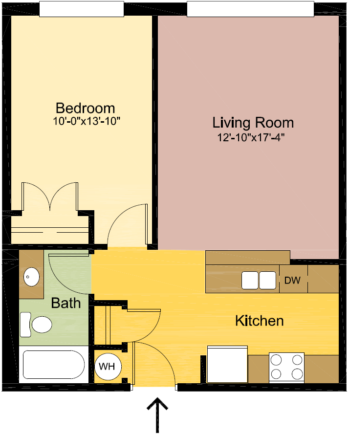 1 Bedroom 1 Bathroom Apartment for rent at The Quad in Louisville, KY