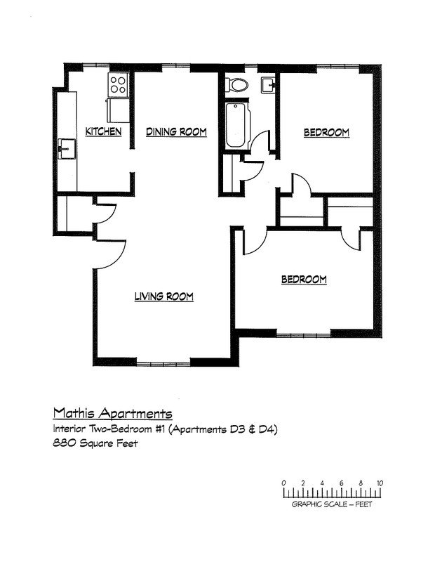 2 Bedrooms 1 Bathroom Apartment for rent at Mathis in Athens, GA