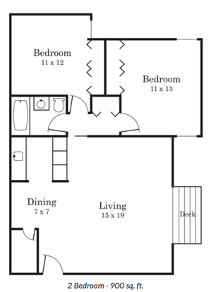 2 Bedrooms 1 Bathroom Apartment for rent at South Pointe in Bloomington, MN