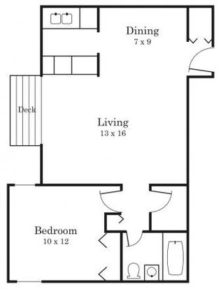 1 Bedroom 1 Bathroom Apartment for rent at South Pointe in Bloomington, MN