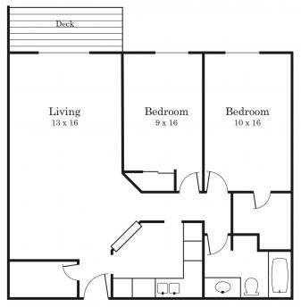 2 Bedrooms 1 Bathroom Apartment for rent at Southwood in Bloomington, MN