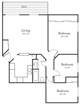 3 Bedrooms 1 Bathroom Apartment for rent at Southwood in Bloomington, MN