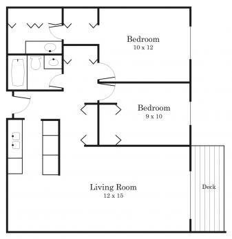 2 Bedrooms 2 Bathrooms Apartment for rent at Westside Village in Hopkins, MN