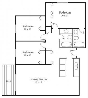 3 Bedrooms 2 Bathrooms Apartment for rent at Westside Village in Hopkins, MN