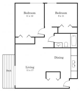 2 Bedrooms 1 Bathroom Apartment for rent at Fountainhead in Richfield, MN