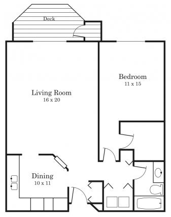 1 Bedroom 1 Bathroom Apartment for rent at The Lexington Apartments & Townhomes in Roseville, MN
