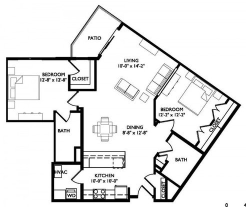 1 Bedroom 1 Bathroom Apartment for rent at Turnberry in Madison, WI