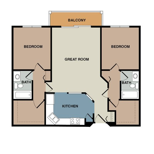 2 Bedrooms 2 Bathrooms Apartment for rent at Lakewood Hills Apartments in White Bear Lake, MN
