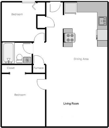 2 Bedrooms 1 Bathroom Apartment for rent at Emerald Apartments in Eugene, OR