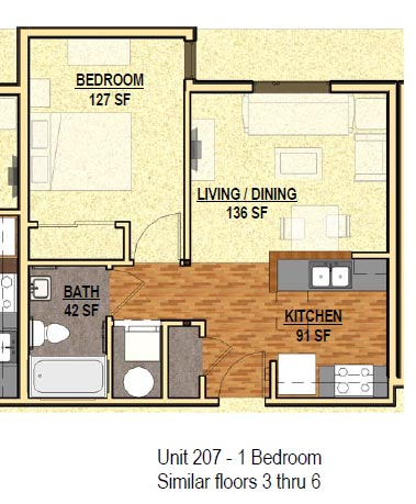 1 Bedroom 1 Bathroom Apartment for rent at The Patterson in Eugene, OR