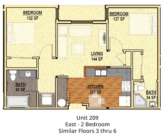 2 Bedrooms 2 Bathrooms Apartment for rent at The Patterson in Eugene, OR